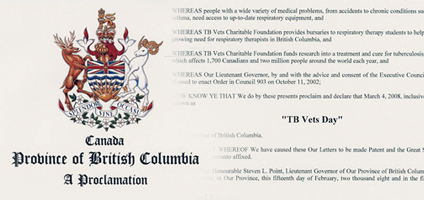 TB Vets Day Proclamation