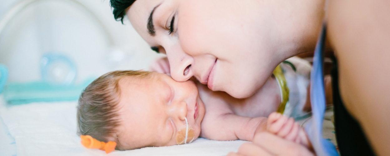 Baby Finnegan and mom Cheryl Stevenson, BC Women's Hospital
